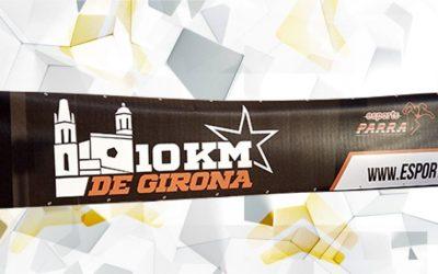 Pancarta individual para Cursa 10 Km Girona de Esports Parra