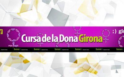Pancarta individual para Esports Parra Cursa de la Dona Girona