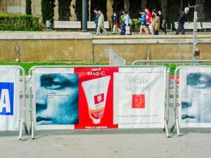 Pancarta individual publicitaria